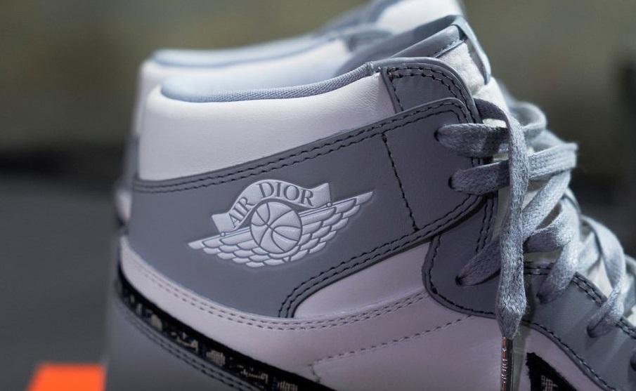 The upper of the Dior X Air Jordon 1 High OG fake shoe